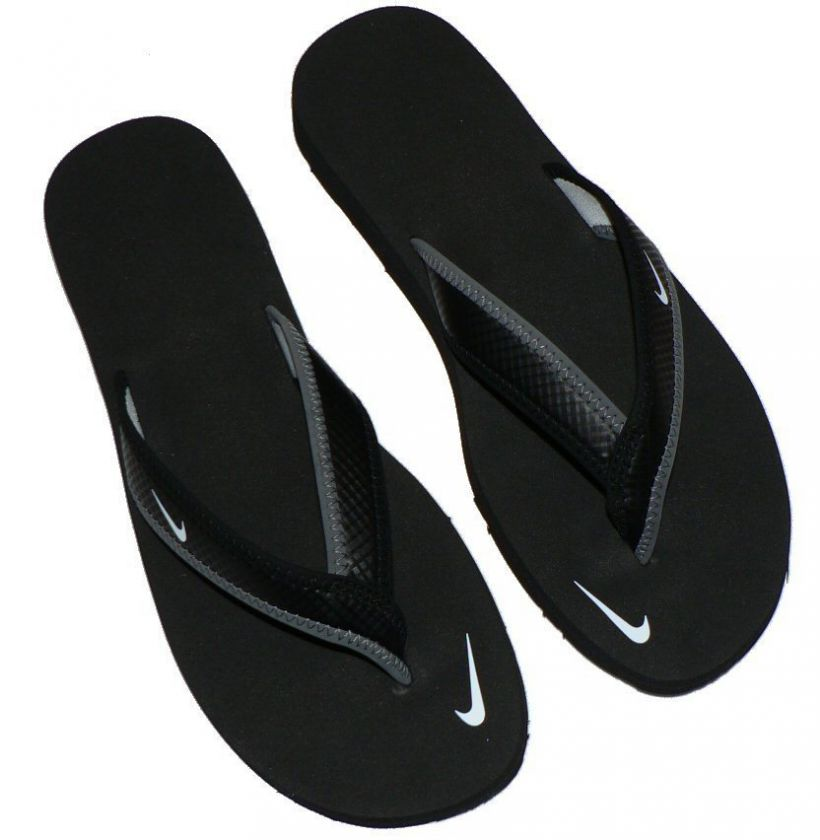 Womens Nike Celso Thong Girl flip flops shoes black