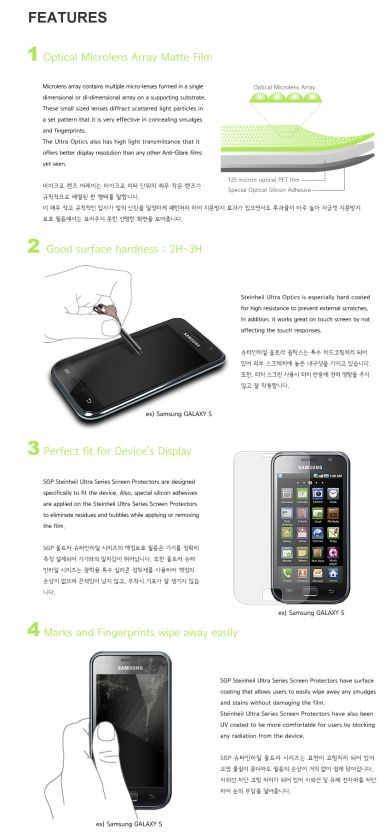 Optics Anti fingerprint Screen film for Samsung Galaxy Note